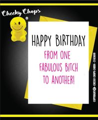 Birthday Card Best friend/ Fabulous Bitch C386