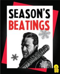 Funny Christmas Cards - Negan Season's Beatings XM90