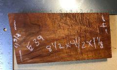 Hawaiian Koa Board Curly 4/4 #E-39