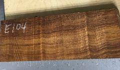 Hawaiian Koa Board Curly 4/4 #E-104