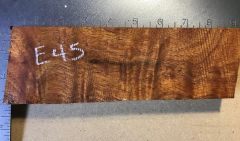 Hawaiian Koa Board Curly 4/4 #E-45