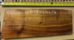 Hawaiian Koa Board Curly 4/4 #N-20