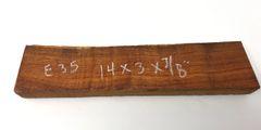 Hawaiian Koa Board Curly 7/8 #E-35