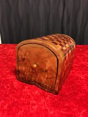 "Hawaiian Koa and Purple Heart ""Alice in Wonderland"" Love Letter Box"