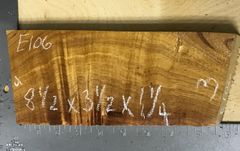 Hawaiian Koa Board Curly 4/4 #E-106