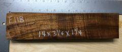 Hawaiian Koa Board Curly 4/4 #E-118