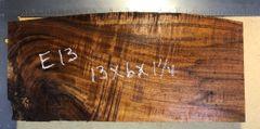 Hawaiian Koa Board Curly 4/4 #E-13