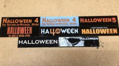 Halloween 4 thru Zombie 2 Based Display Plates