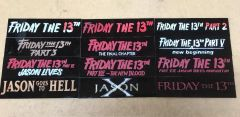 Friday the 13th Films Display Plates