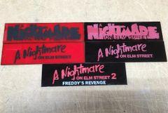 A Nightmare on Elm Street Films Display Plates