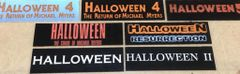 Halloween 4 thru Zombie 2 Based Display Plates