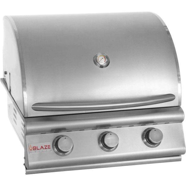 Blaze BLZ-3-NG 25 Inch 3-Burner Built-in Natural Gas Grill