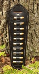 Leather padded sling strap ammo holder .38spl/.357mag loops