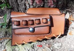Ruger, Remington, Winchester Bolt Action Leather Stock Cover with Cheek Riser