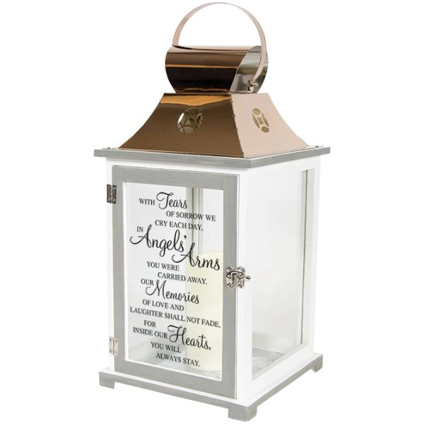 House Fire Sympathy Quotes: Angels' Arms Memorial Lantern