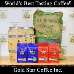 4 lb Jamaican Blue Mountain & Hawaiian Maui Red Catuai Coffee Combo