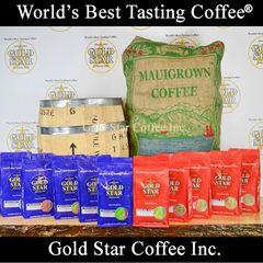 10 lb Jamaican Blue Mountain & Hawaiian Maui Red Catuai Coffee Combo