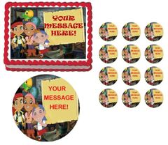 Jake and the Neverland Pirates Banner Edible Cake Topper Image Frosting Sheet