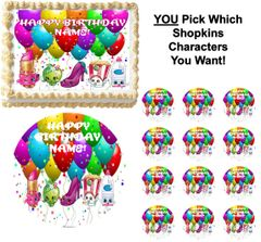 SHOPKINS YOU PICK THE CHARACTERS Edible Cake Topper Image Frosting Sheet Cake Decoration