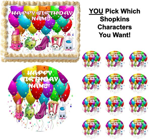 shopkins you pick the characters edible cake topper image frosting