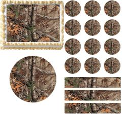 REALTREE Camo Real Tree Edible Cake Topper Image Frosting Sheet