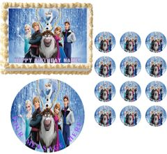 FROZEN CHARACTERS Anna Elsa Edible Cake Topper Image Frosting Sheet