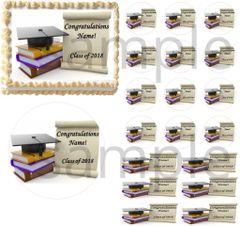 Graduation Class of 2018 Edible Cake Topper Image Cupcakes Cake Decoration Grad