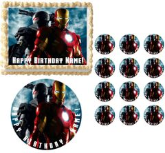 IRON MAN Edible Cake Topper Image Frosting Sheet
