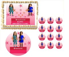 AMERICAN GIRL DOLL CUSTOMIZED Edible Cake Topper Image Frosting Sheet