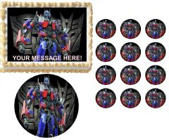 TRANSFORMERS OPTIMUS PRIME Edible Cake Topper Image Frosting Sheet