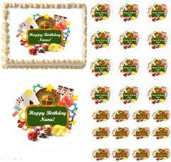 Gambling Casino Edible Cake Topper Image Frosting Sheet Cupcakes