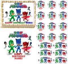 PJ MASKS Party Edible Cake Topper Image Frosting Sheet Cake Decoration