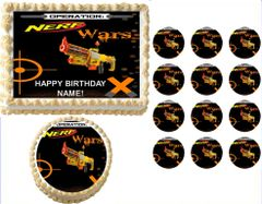 Nerf Wars Gun N Strike Edible Cake Topper Image Frosting Sheet