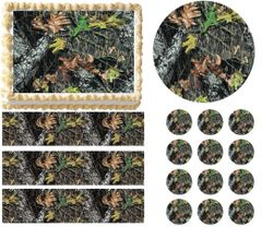 MOSSY OAK Tree Print Edible Cake Topper Image Frosting Sheet