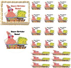 What's Funnier Than 24 Spongebob Squarepants EDIBLE Cake Topper Print Cupcakes Cake Strips Wraps