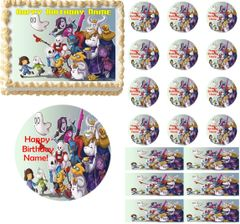 Undertale Edible Cake Topper Image Frosting Sheet Cake Decoration Cupcakes