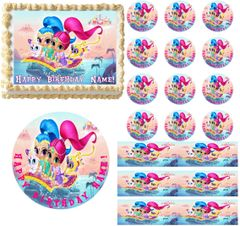 SHIMMER and SHINE Party Edible Cake Topper Image Frosting Sheet Cake Decoration