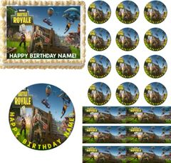 Fortnite Battle Royale EDIBLE Cake Topper Image Frosting Sheet Cupcakes