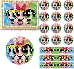 The Powerpuff Girls Edible Cake Topper Image Cupcakes Cookies Powerpuff Cake Topper