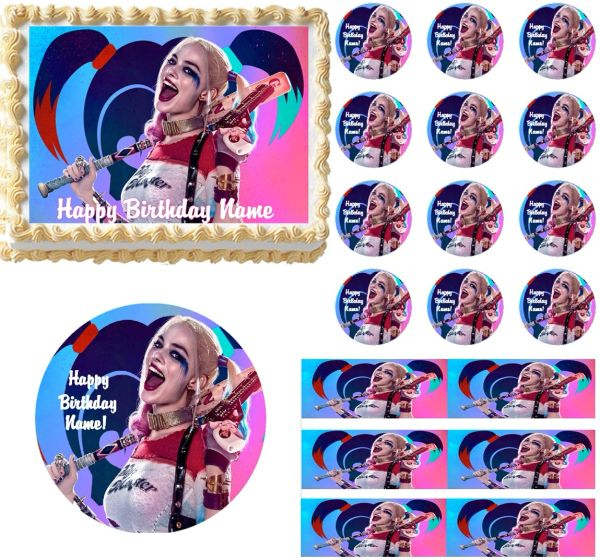 Suicide Squad Harley Quinn Edible Cake Topper Image Frosting Sheet