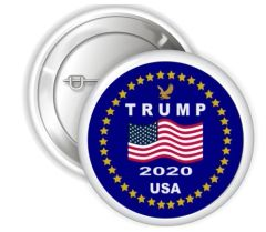 "Trump 2020 USA Presidential Pinback Buttons, 2.25"" Party Favor Buttons, Republican Support Button, Trump Pin Buttons, Political Badge Button"