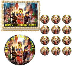 Lego Movie Party Edible Cake Topper Image Frosting Sheet Cake Decoration