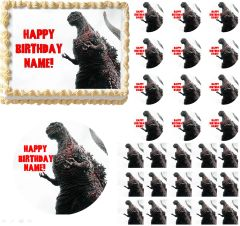 Godzilla Edible Cake Topper Image, Godzilla Cupcakes, Godzilla Party, Godzilla Edible Image, Godzilla Cake, Godzilla Birthday Party