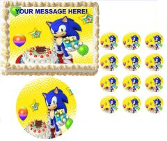 SONIC the HEDGEHOG Party Edible Cake Topper Image Frosting Sheet Cake Decoration