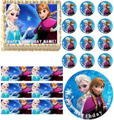 FROZEN ANNA ELSA Edible Cake Topper Image Frosting Sheet