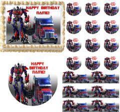 Transformers OPTIMUS PRIME Optimus Truck Edible Cake Topper Image Frosting Sheet