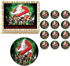 Ghostbusters Who You Gonna Call Edible Cake Topper Image Frosting Sheet