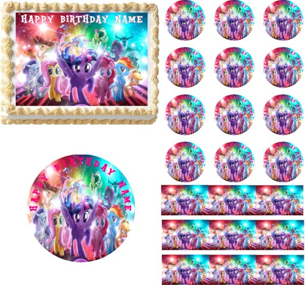 My Little Pony Movie Edible Cake Topper Image Little Pony