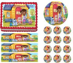 DOC McSTUFFINS CHARACTERS House Edible Cake Topper Image Frosting Sheet