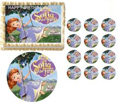 SOFIA the PRINCESS Swinging Edible Cake Topper Image Frosting Sheet